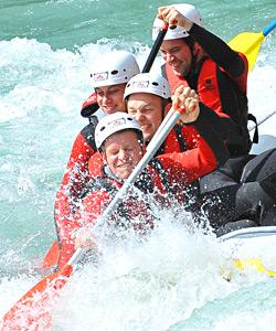 Abenteuersport mit Rafting und Canyoning